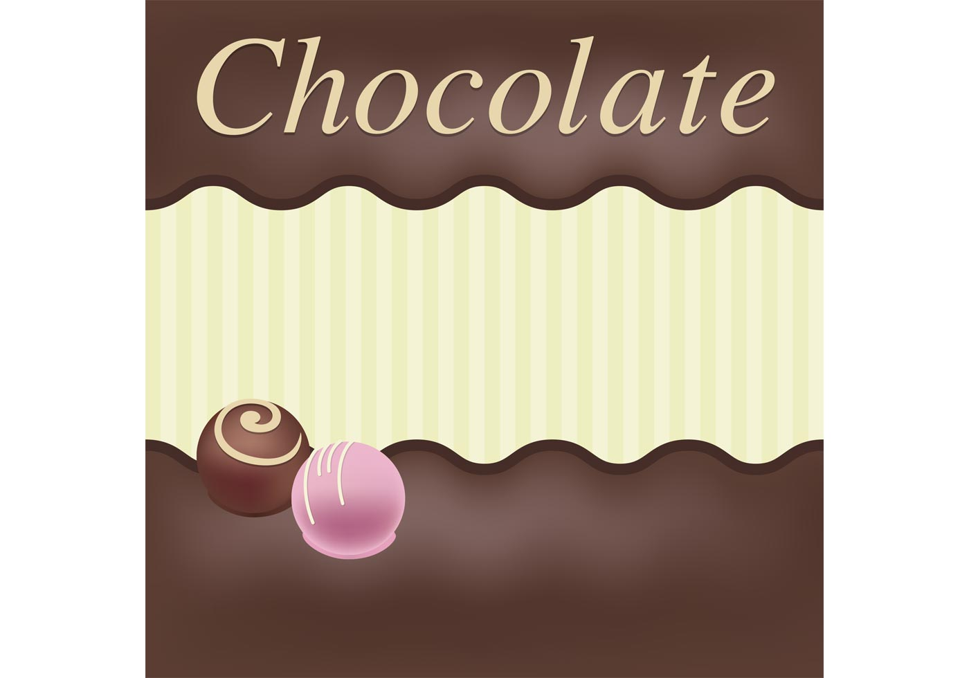 Chocolate Vector Card Download Free Vector Art Stock