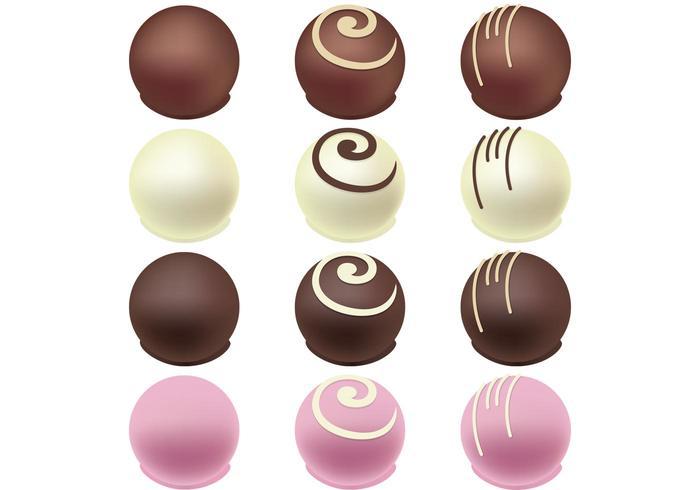 Vectores del caramelo de chocolate