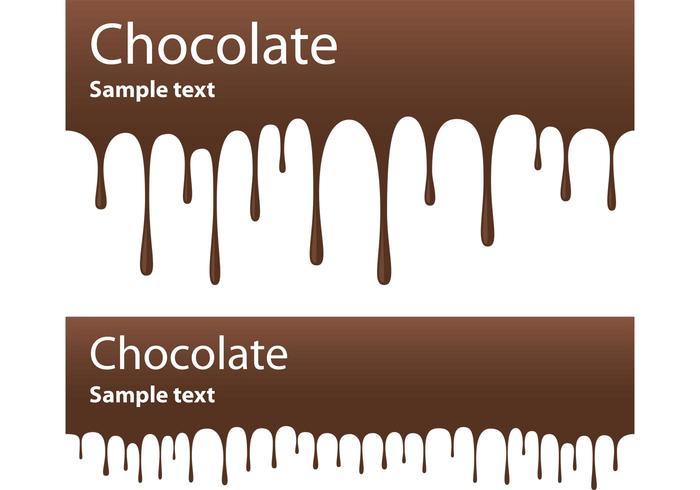 Schokoladen-Banner-Vektoren
