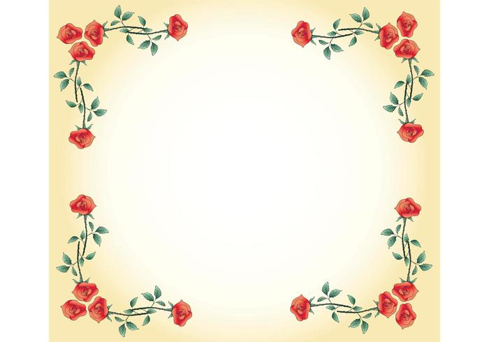 Free Vector Rose Frame