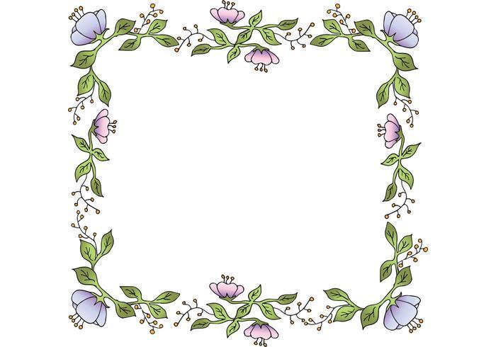Marco floral libre del vector