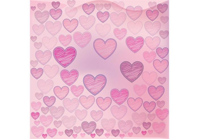 Valentine Hearts Background Vector