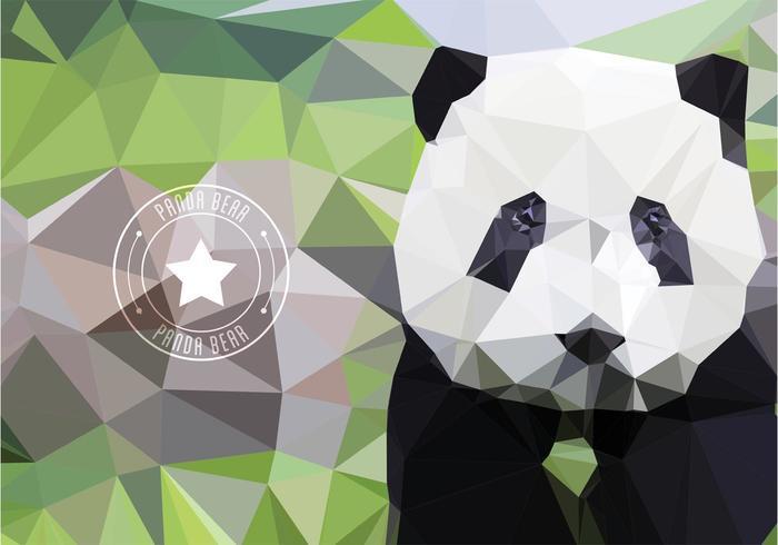 Papier peint géométrique libre d'ormeau de panda polygone