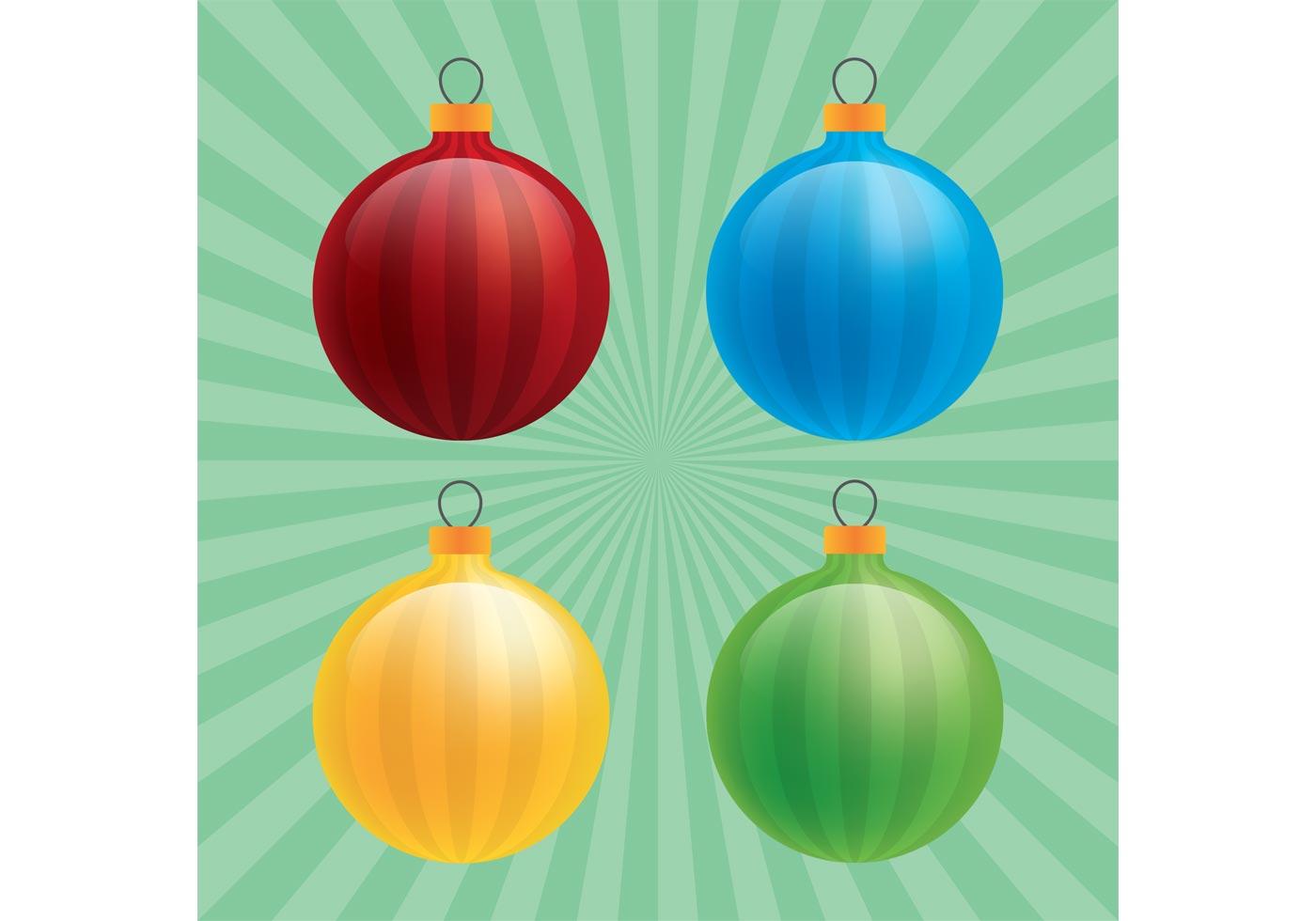 Glossy Christmas Ornament Vectors - Download Free Vectors ...