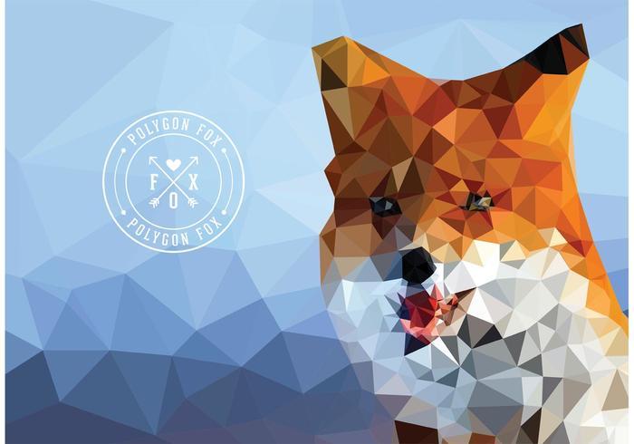 Free vector geometrischen polygon fox wallpaper