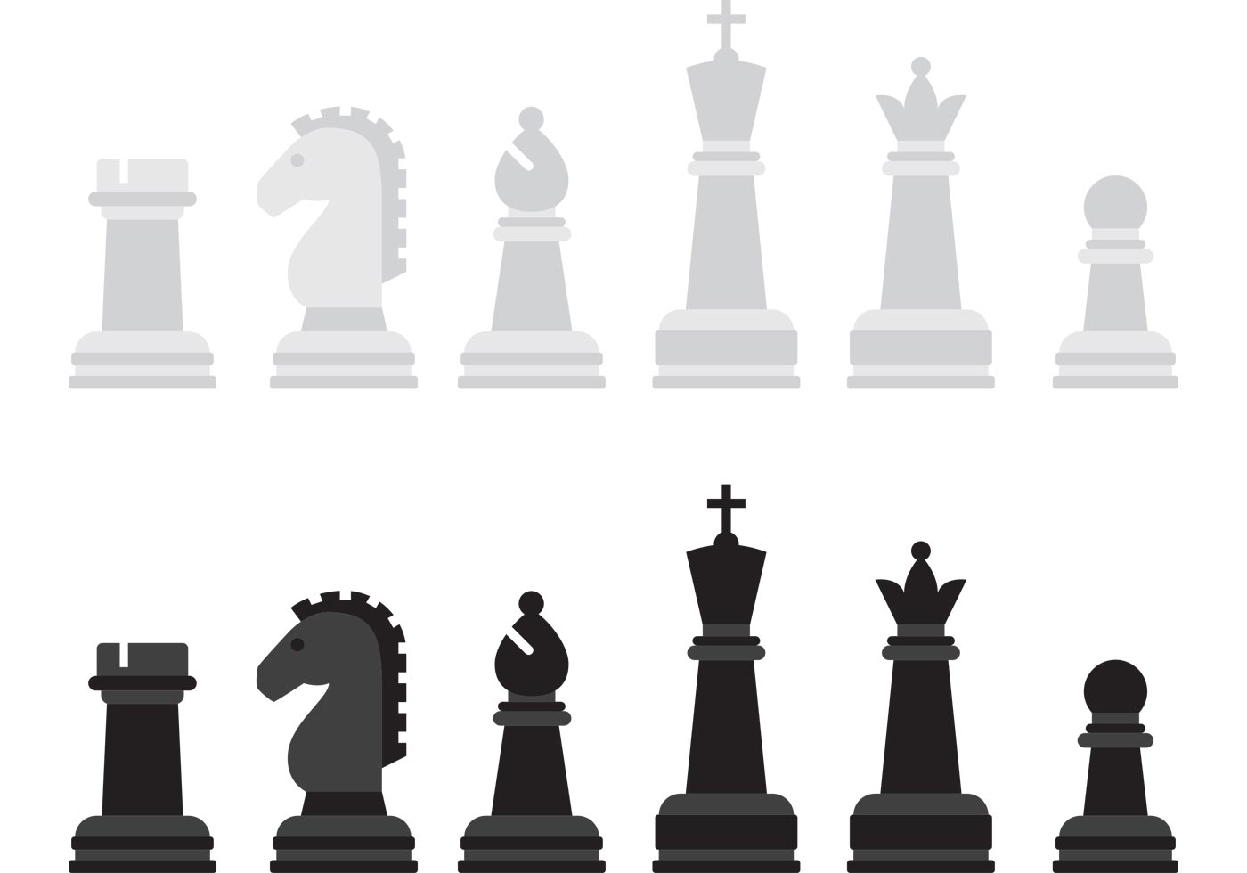 Chess Vector Game Pieces - Download Free Vector Art, Stock ...