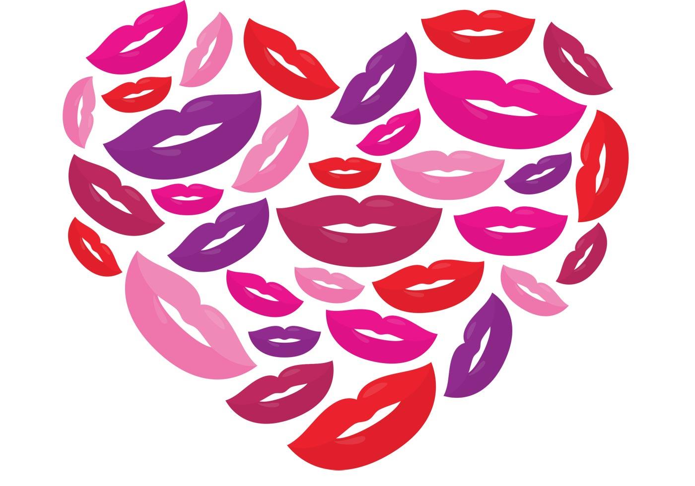 Kiss Vector Heart - Download Free Vectors, Clipart -3348