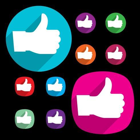 Como vetores do Facebook