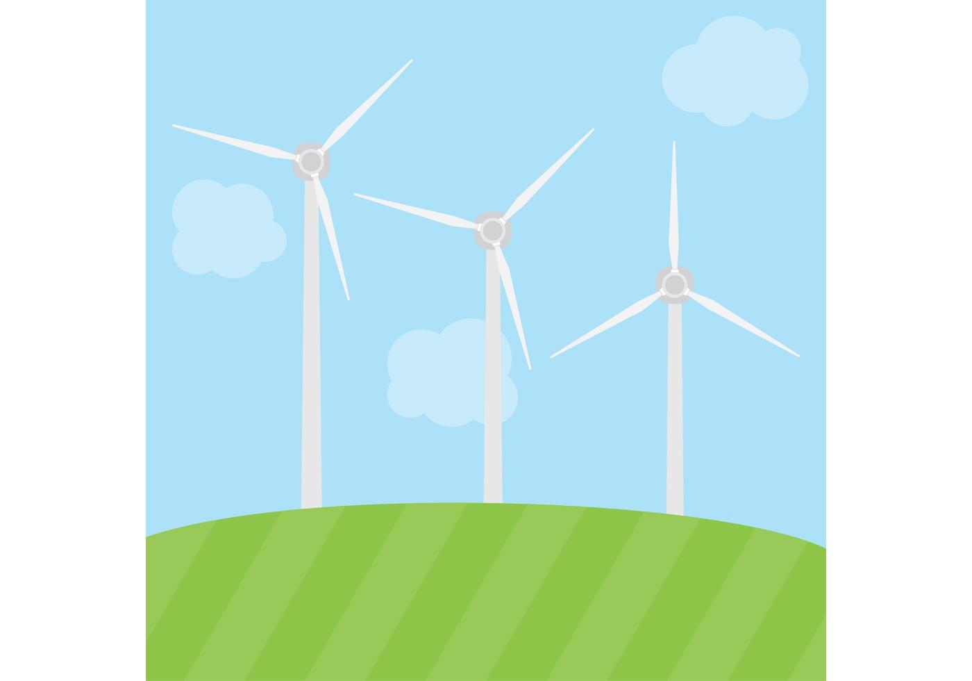 Windmill Vector Energy Download Free Vector Art Stock