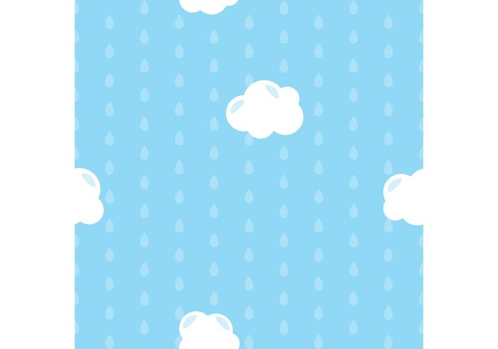 Blue Raindrops Vector Background
