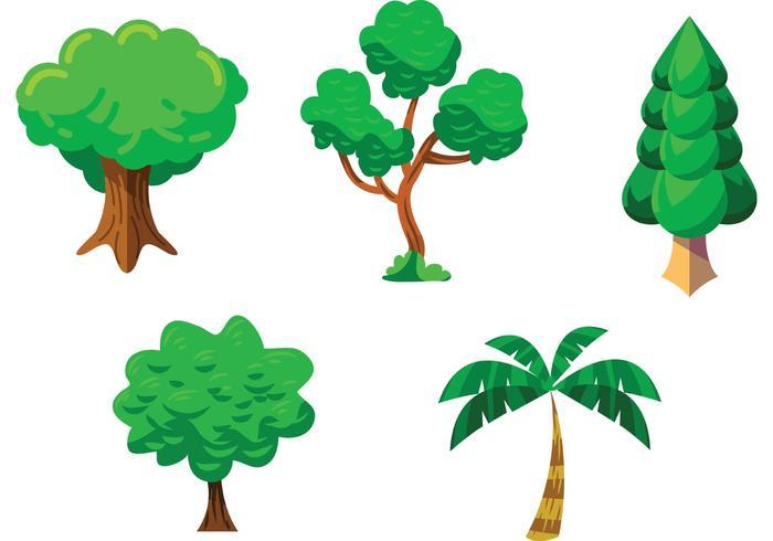 Pacote de vetores de árvores