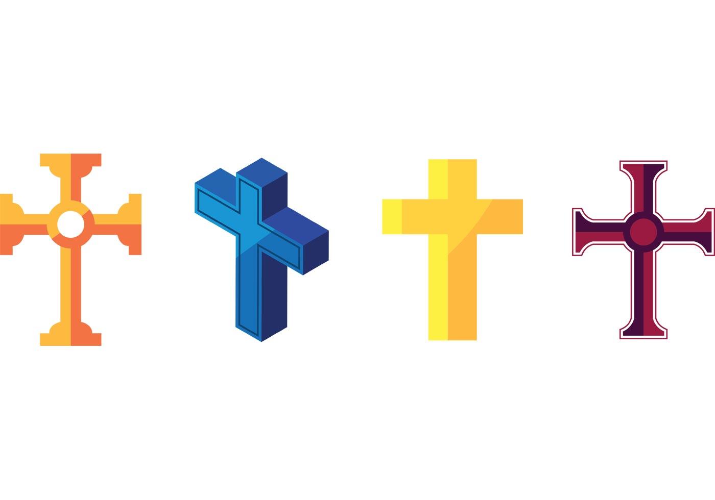 cross vectors download free vector art  stock graphics Cross With Crown Vector Gold Crown of Thorns Vector