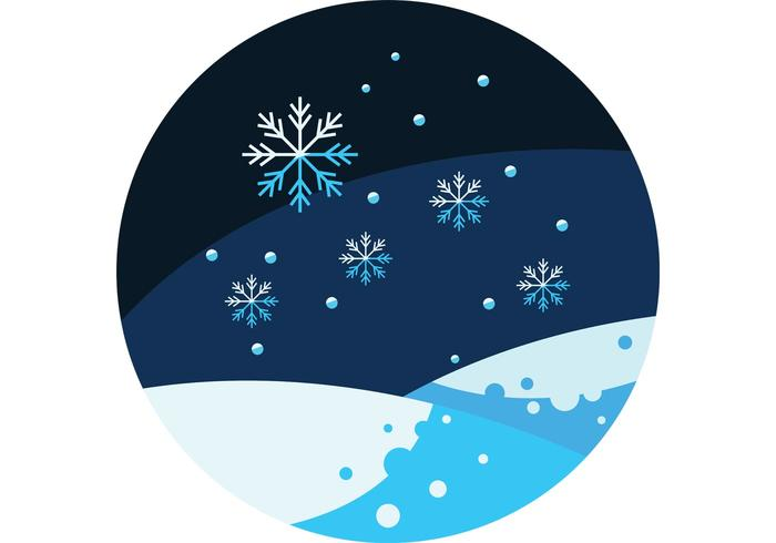 Winter Vector Scene