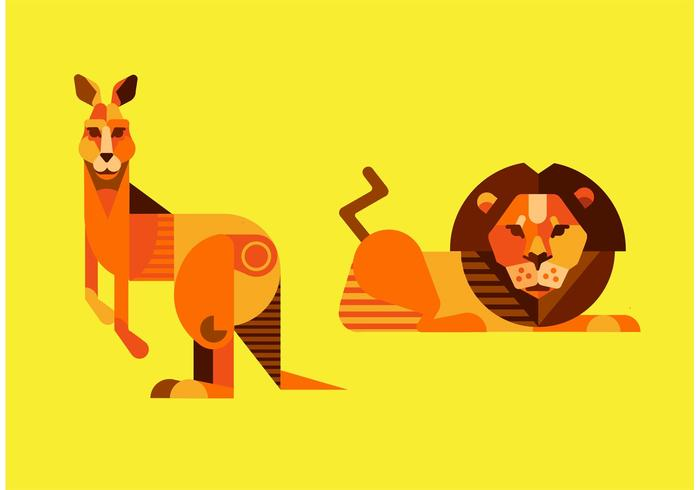 Lion Vector and Kangaroo Vector