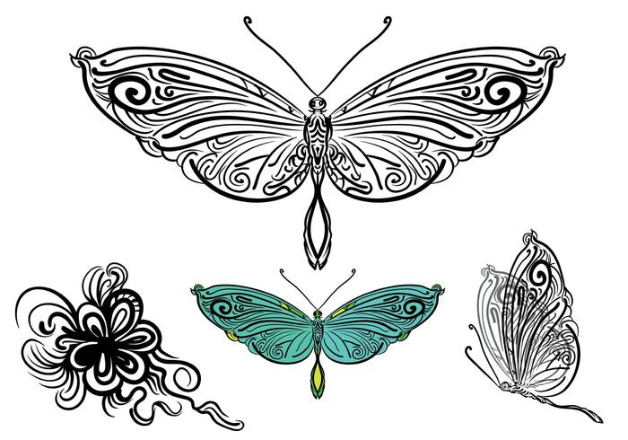Free Vector Butterfly Illustration