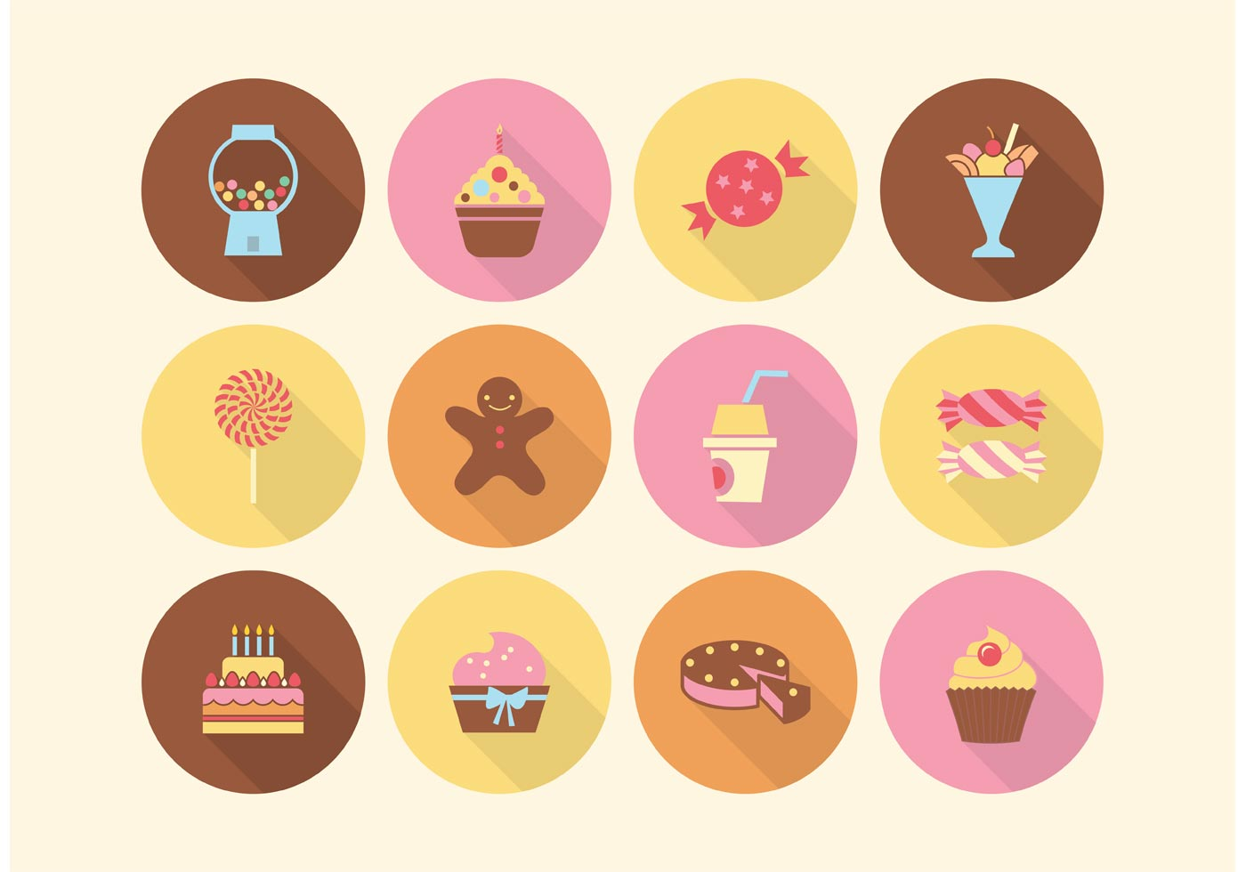Free Cake And Sweets Vector Icons Download Free Vector