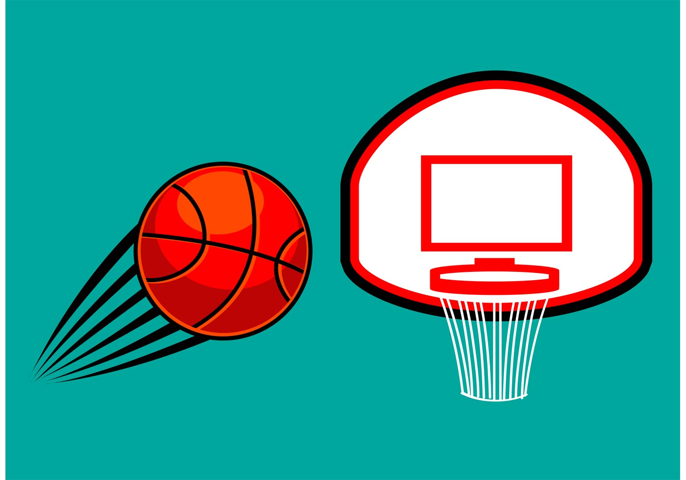 Free basketball vector download free vector art stock graphics images for Free basketball vector