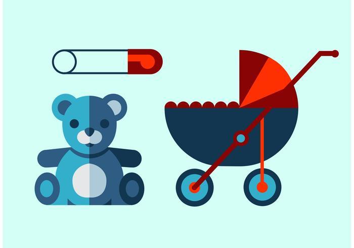 Ensemble de vecteur bébé