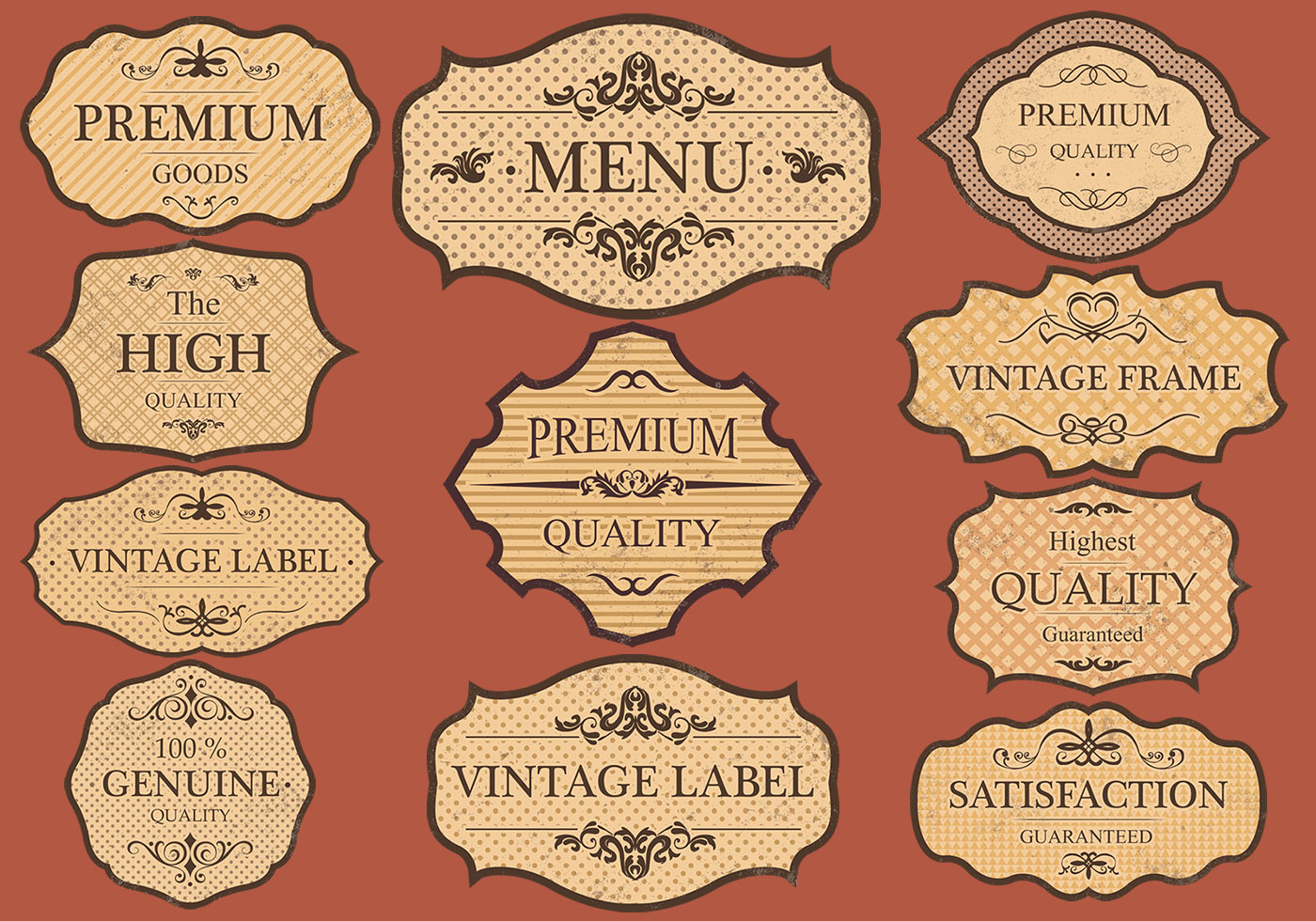 Vintage frame and label vector free vector art at vecteezy vintage labels vector set stopboris Image collections