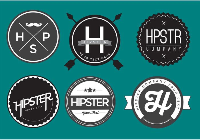 Kostenlos hipster badge vector pack