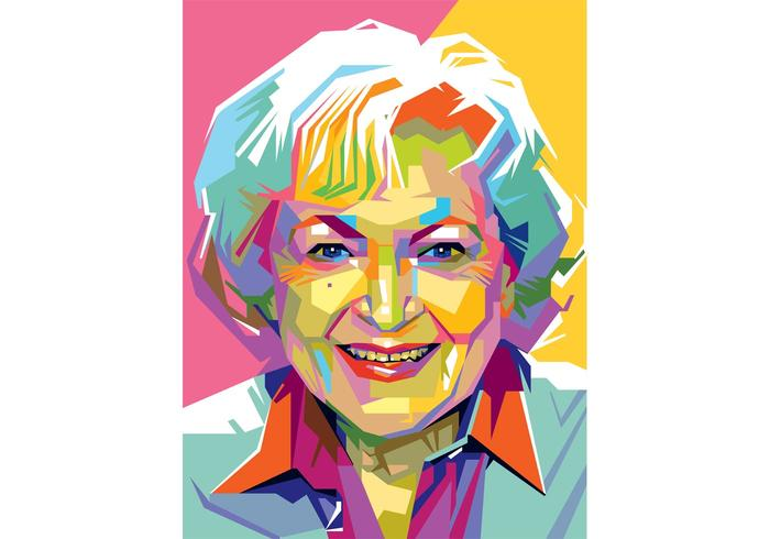 Gratis Betty White Vector