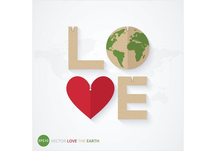 Free Love The Earth Poster Vector