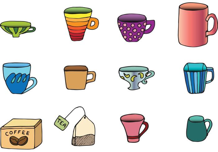 Free Vector Cups