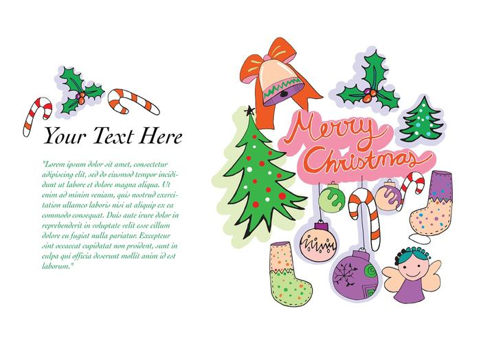Free Vector Christmas Greeting Card