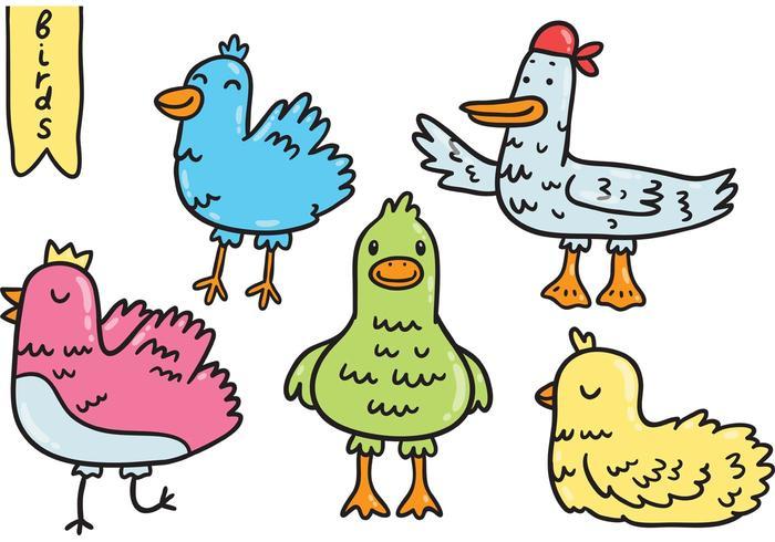Schattige vogels vector pack