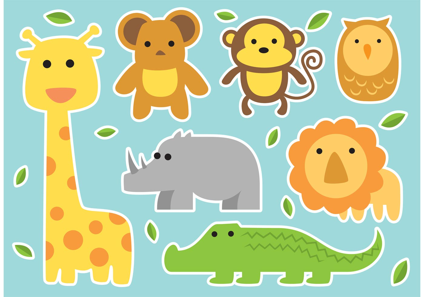 cartoon animal stickers in - photo #37