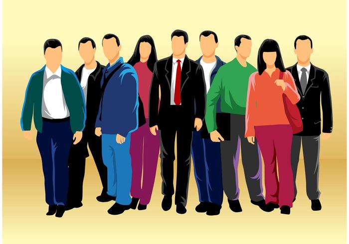 Group of People Vector