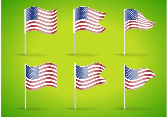 Amerikanska flaggvektorer