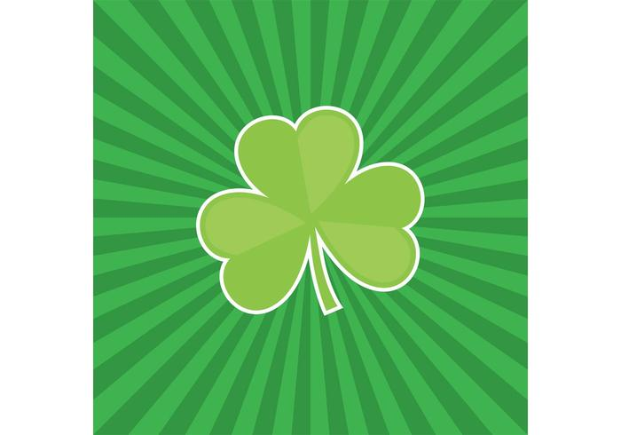 Three Leaf Clover Vector With Sunburst Background Download Free