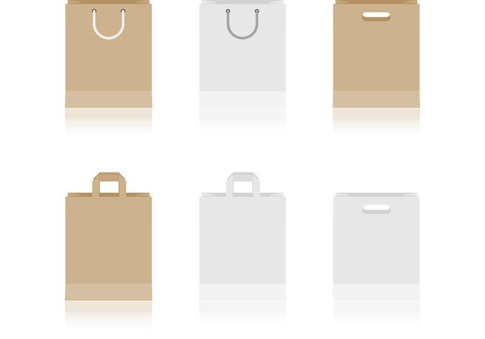 Vecteurs de sacs en papier