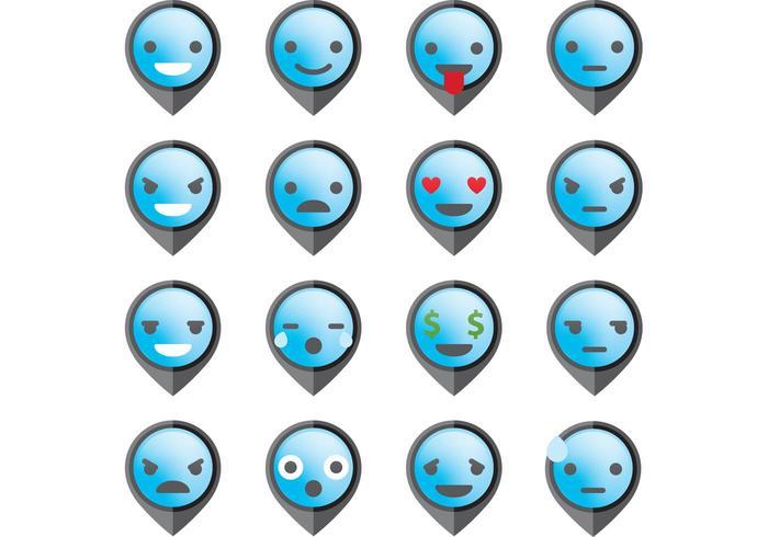 Pekare emoticon vektorer
