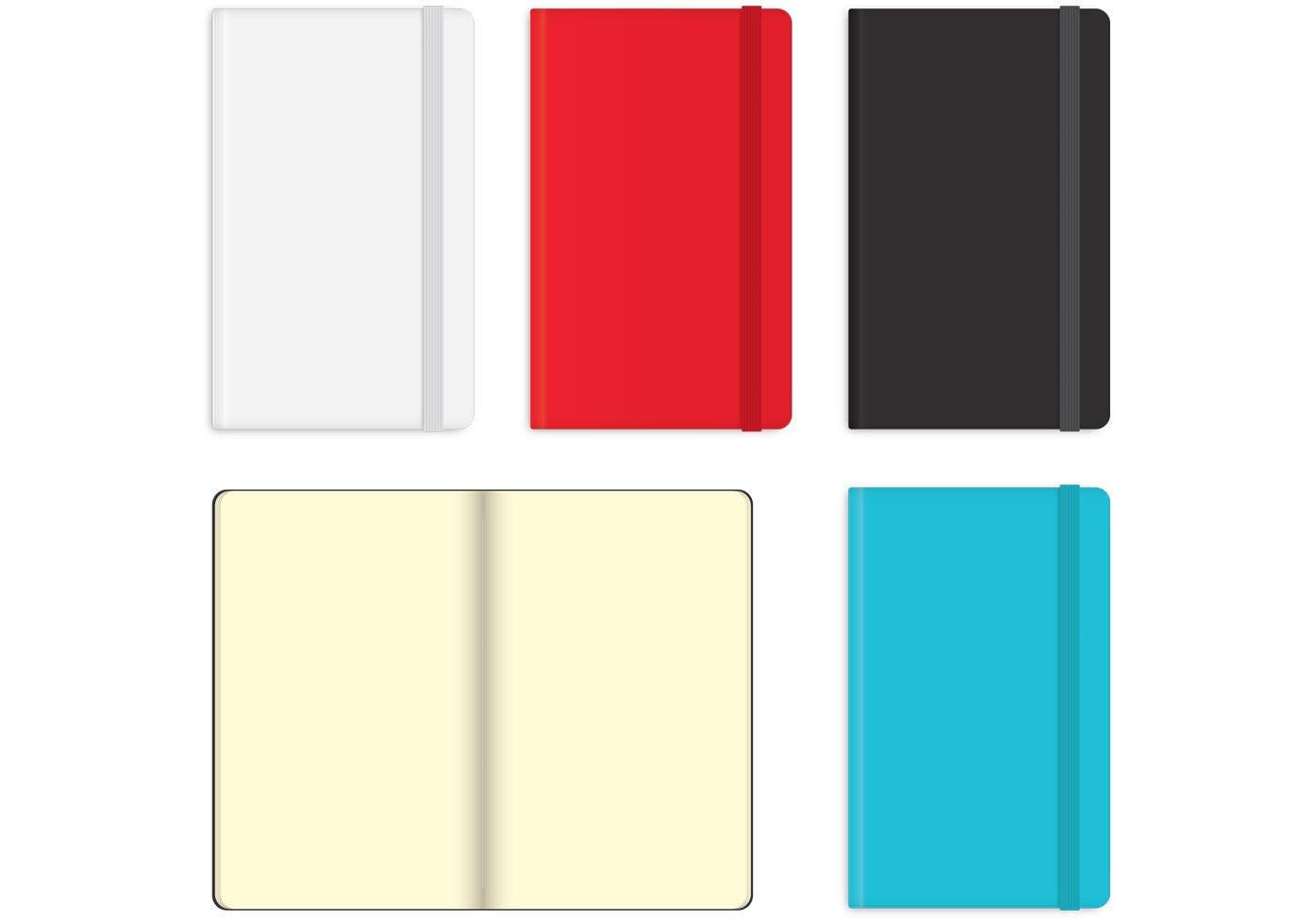 moleskine notebook vectors
