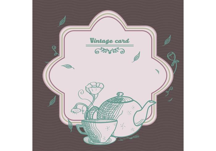 Vintage Tea Card Vector