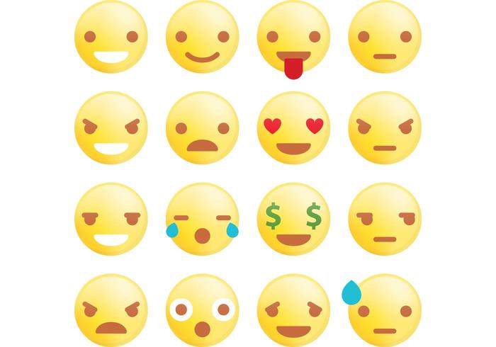 Rounded Emoticon Vectors