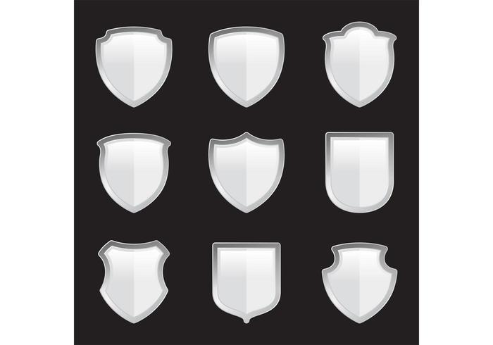 Silver Heraldic Vector Shields
