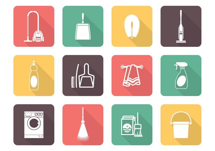Free Vector Cleaning Icons