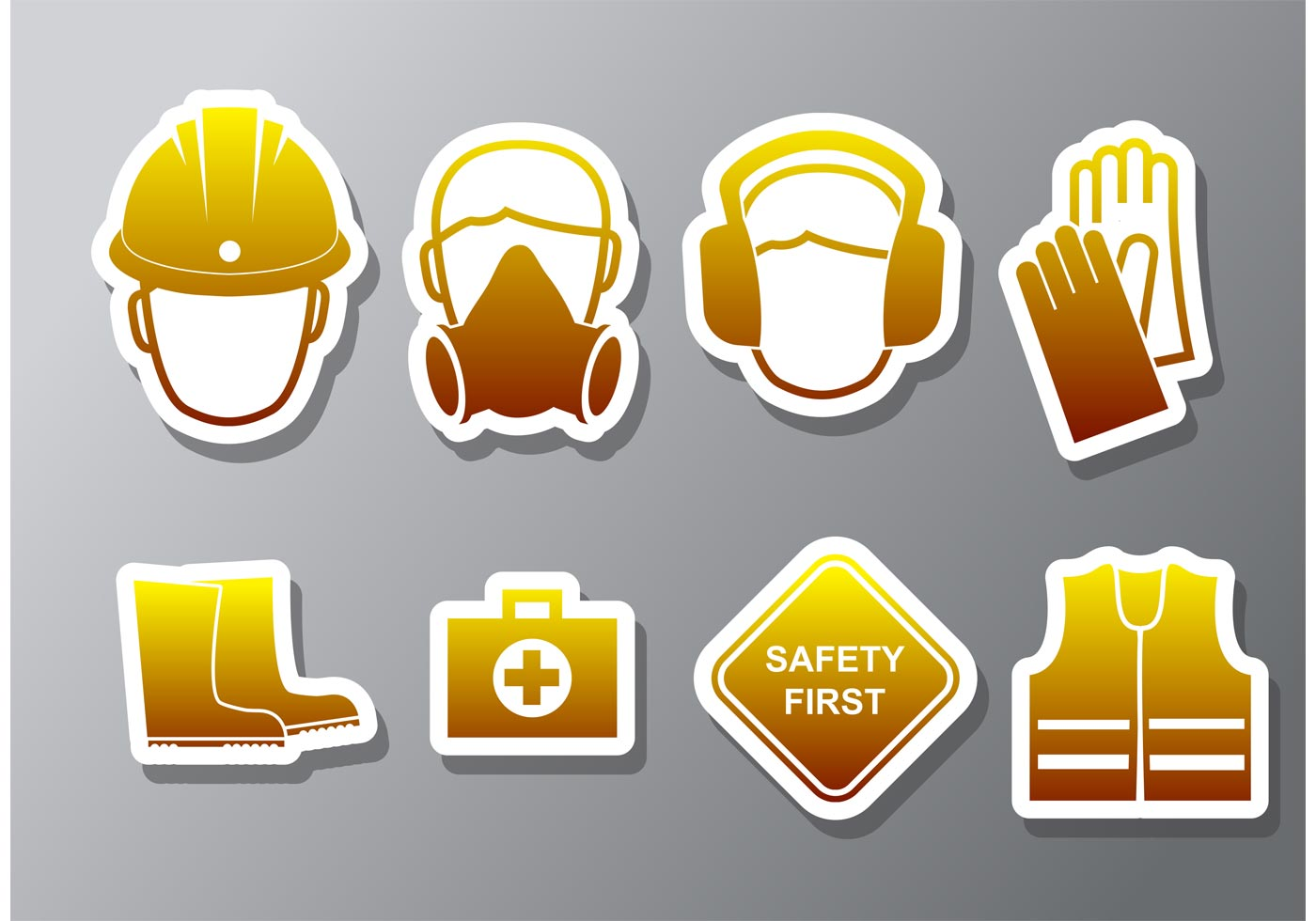 health and safety vector icons download free vector art