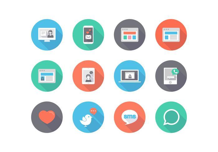 Libre Social Media Flat Vector Icons