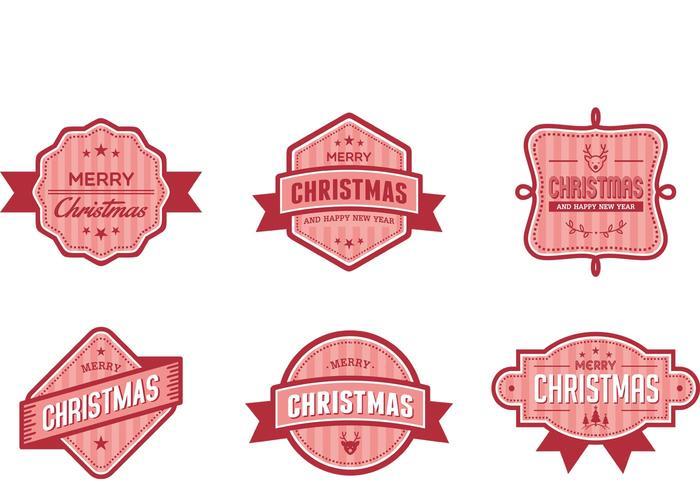 Christmas Badge Vectors