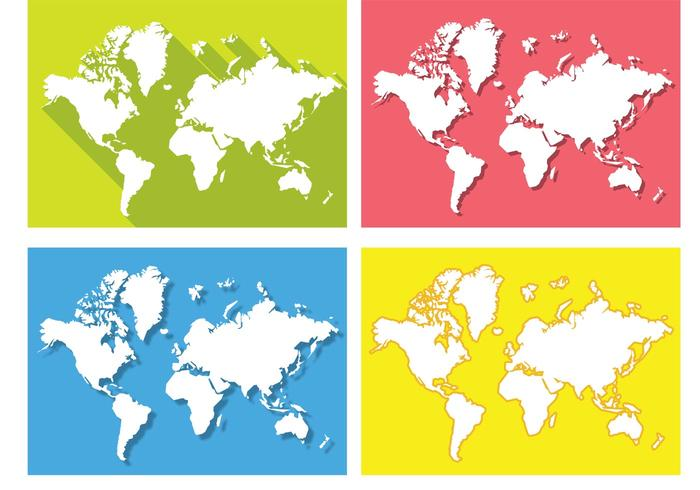 Flat world map vectors download free vector art stock graphics flat world map vectors gumiabroncs Gallery