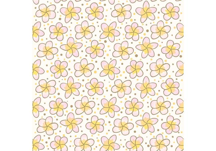 Motif Vecotr de fleurs polynésien gratuit