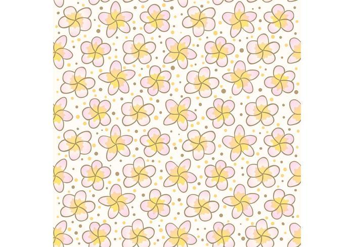 Frei polynesische Blume vecotr Muster
