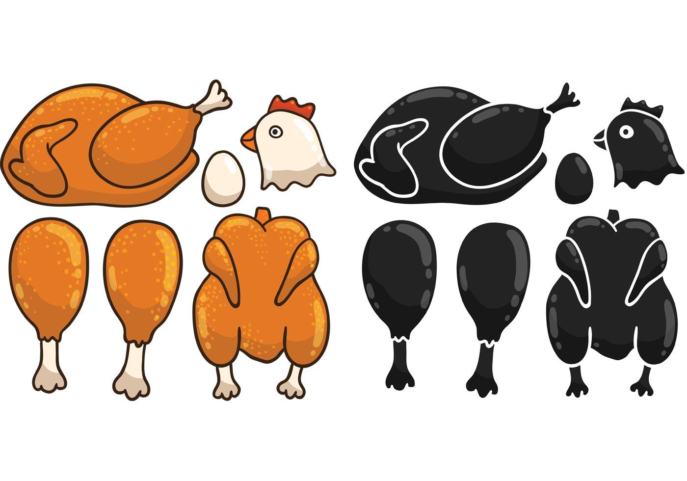 cartoon chicken vectors download free vector art stock