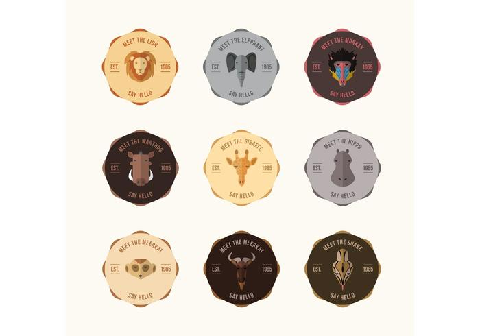Vector Animal Badge Vectors