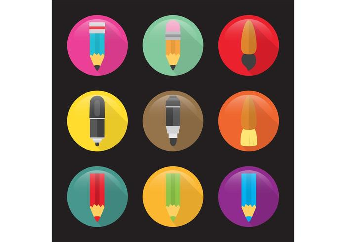 Flat Art Vector Icons