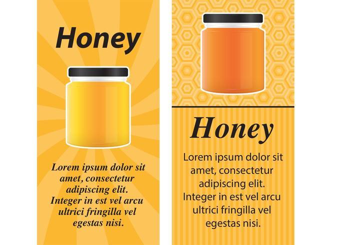 Honey Jar Vector Cards